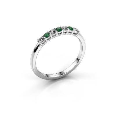 Verlobungsring Michelle 7 925 Silber Smaragd 2 mm