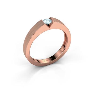 Verlovingsring Lizzy 1 585 rosé goud aquamarijn 3.7 mm