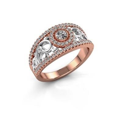 Verlovingsring Lavona 585 rosé goud lab-grown diamant 0.50 crt