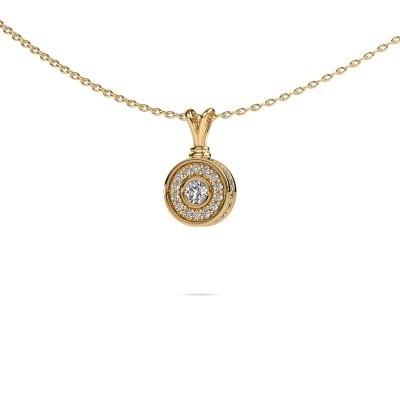 Foto van Hanger Roos 585 goud diamant 0.301 crt