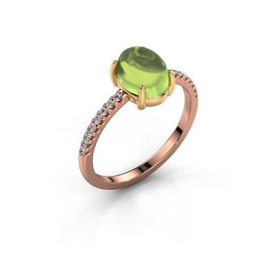 Ring Becky 585 rosé goud peridoot 8x6 mm