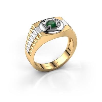 Foto van Heren ring Edward 585 goud smaragd 4.7 mm