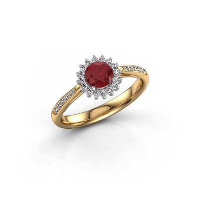 Engagement ring Tilly RND 2 585 gold ruby 5 mm