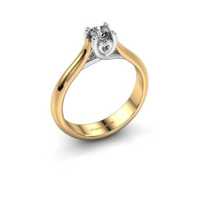 Picture of Engagement ring Nisa 585 gold diamond 0.30 crt