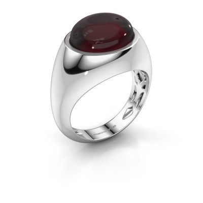 Ring Laurien 375 white gold garnet 12x10 mm