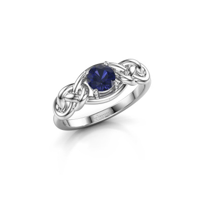Picture of Ring Zoe 585 white gold sapphire 5 mm