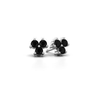 Foto van Oorstekers Shirlee 925 zilver zwarte diamant 0.72 crt
