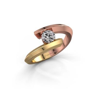 Ring Paulette 585 rose gold diamond 0.40 crt