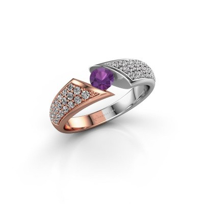 Picture of Engagement ring Hojalien 3 585 rose gold amethyst 4.2 mm