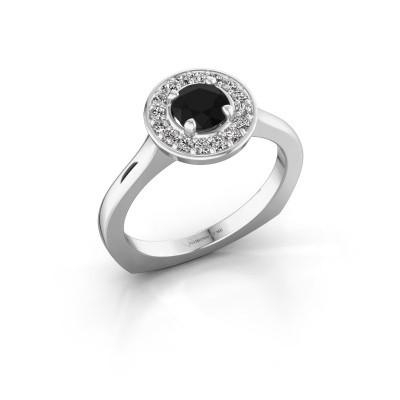 Foto van Ring Kanisha 1 925 zilver zwarte diamant 0.792 crt