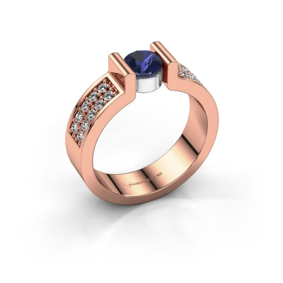 Engagement ring Isabel 3 585 rose gold sapphire 5 mm