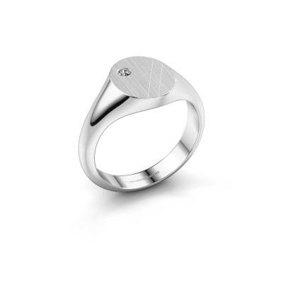 Foto van Pinkring Finn 3 925 zilver diamant 0.03 crt