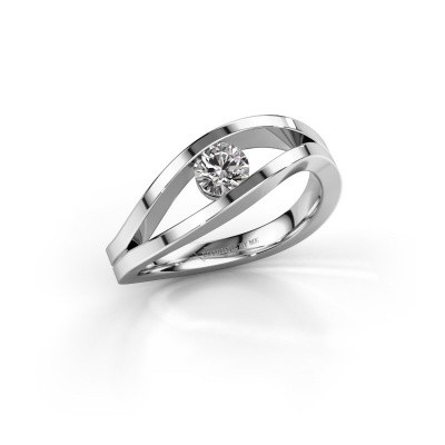 Picture of Engagement ring Sigrid 1 950 platinum diamond 0.30 crt
