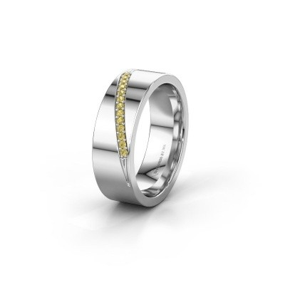 Alliance WH2146L17A 925 argent saphir jaune ±7x1.7 mm