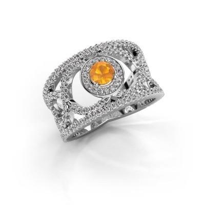 Foto van Ring Regina 925 zilver citrien 4.2 mm
