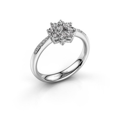 Verlovingsring Camille 2 925 zilver lab-grown diamant 0.15 crt