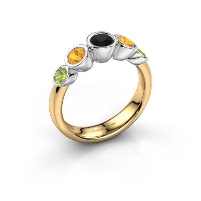 Ring Lizz 585 goud zwarte diamant 0.30 crt