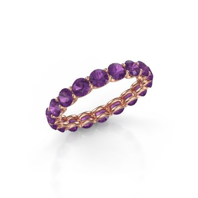 Picture of Ring Kirsten 3.4 375 rose gold amethyst 3.4 mm
