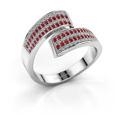 Ring Athena 950 platina robijn 1 mm