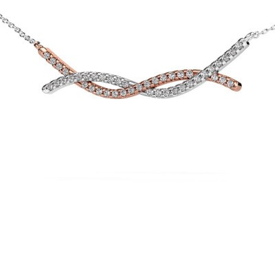 Bar Kette Breanne 585 Roségold Diamant 0.338 crt
