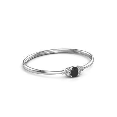 Foto van Slavenarmband Lucy 585 witgoud zwarte diamant 1.500 crt