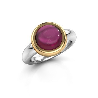 Bague Jenae 585 or blanc rhodolite 10 mm