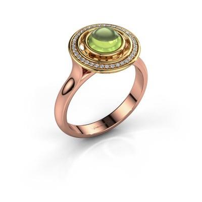 Ring Salima 585 rosé goud peridoot 6 mm