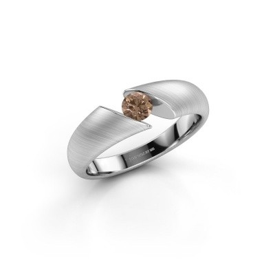 Foto van Verlovingsring Hojalien 1 950 platina bruine diamant 0.25 crt