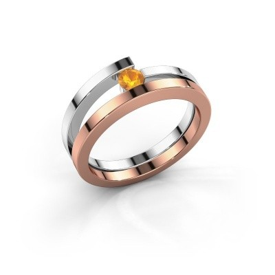Ring Sandy 585 rosé goud citrien 3.4 mm
