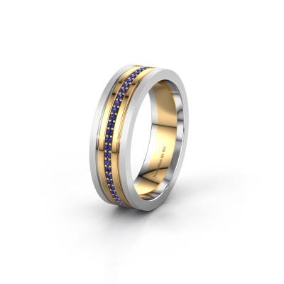 Trouwring WH0404L16A 585 goud saffier ±6x1.7 mm