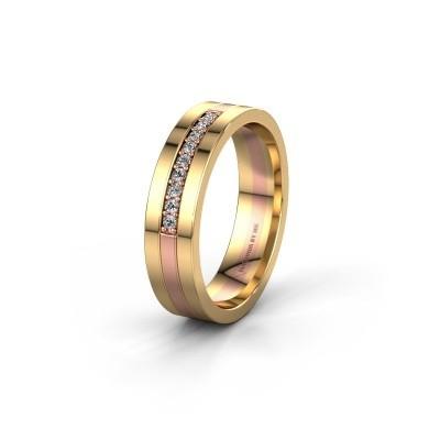 Trouwring WH0413L15AP 585 rosé goud zirkonia ±5x1.7 mm