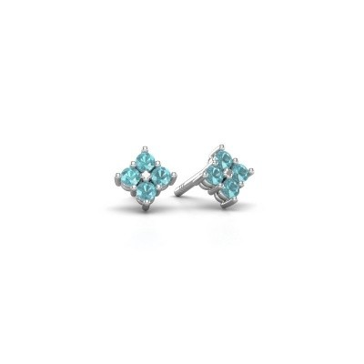 Picture of Stud earrings Maryetta 925 silver blue topaz 2 mm