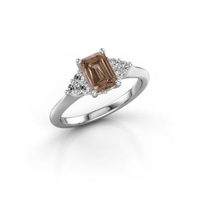 Foto van Verlovingsring Felipa EME 585 witgoud bruine diamant 1.343 crt