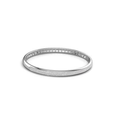 Armband Emely 5mm 585 witgoud zirkonia 1.1 mm