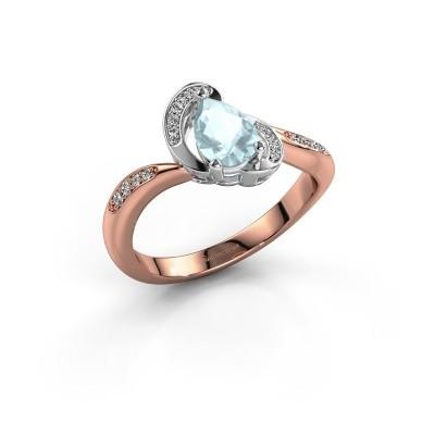 Picture of Ring Jonelle 585 rose gold aquamarine 7x5 mm