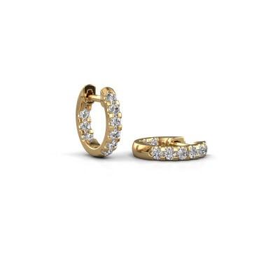 Picture of Hoop earrings Jackie 10 mm B 375 gold zirconia 2 mm