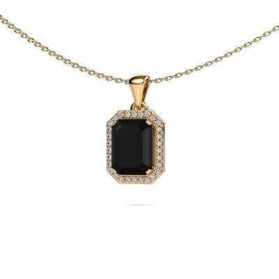 Ketting Dodie 375 goud zwarte diamant 3.15 crt