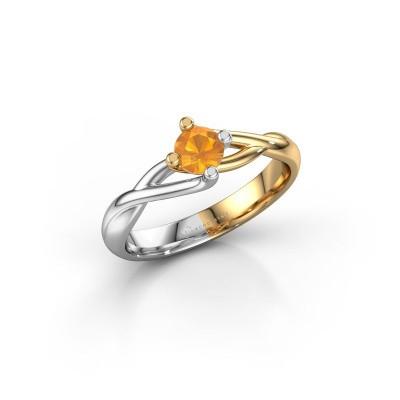 Foto van Ring Paulien 585 goud citrien 4.2 mm