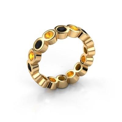 Vorsteckring Edwina 3 375 Gold Schwarz Diamant 0.96 crt
