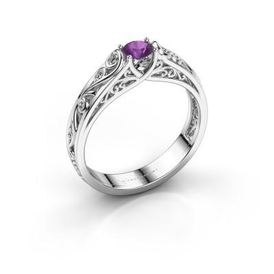 Foto van Ring Quinty 925 zilver amethist 4 mm