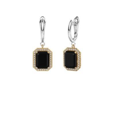 Bild von Ohrhänger Dodie 1 585 Gold Schwarz Diamant 3.00 crt