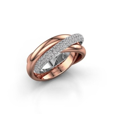 Ring Trinity 2 585 witgoud zirkonia 1 mm