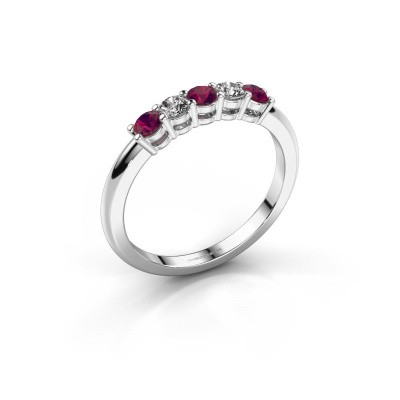 Foto van Promise ring Michelle 5 585 witgoud rhodoliet 2.7 mm
