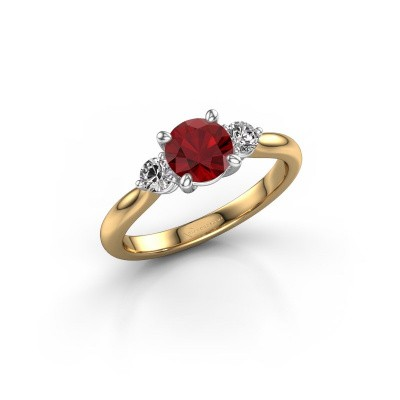 Picture of Engagement ring Lieselot RND 585 gold ruby 6.5 mm