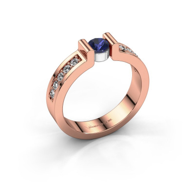 Engagement ring Isabel 2 585 rose gold sapphire 4 mm
