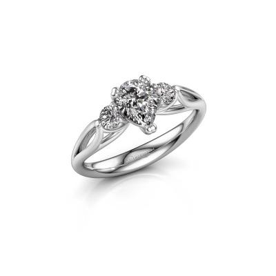 Bild von Verlobungsring Amie per 585 Weißgold Diamant 0.85 crt