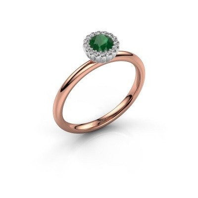 Engagement ring Queen 585 rose gold emerald 4.2 mm