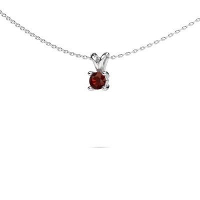 Picture of Necklace Sam round 585 white gold garnet 4.2 mm