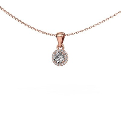 Foto van Hanger Seline rnd 375 rosé goud diamant 0.38 crt
