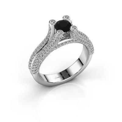 Foto van Verlovingsring Stefanie 2 585 witgoud zwarte diamant 1.60 crt